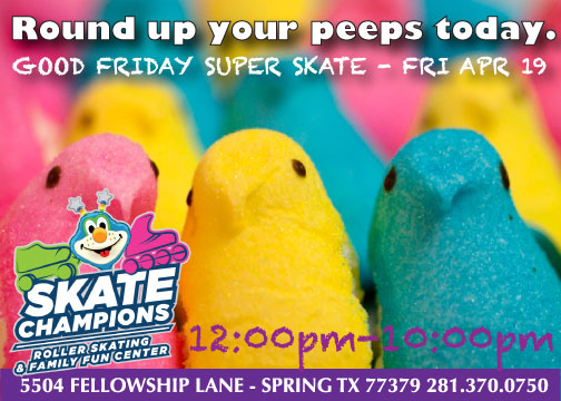 Round Up Your Peeps Today – Friday April 19