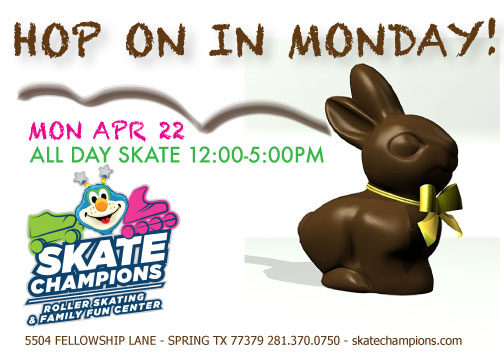 Hop on in Monday – April 22nd