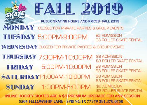 Fall 2019 Hours