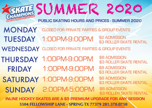 Skating is back!! We are OPEN!