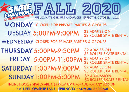 New hours for Fall 2020