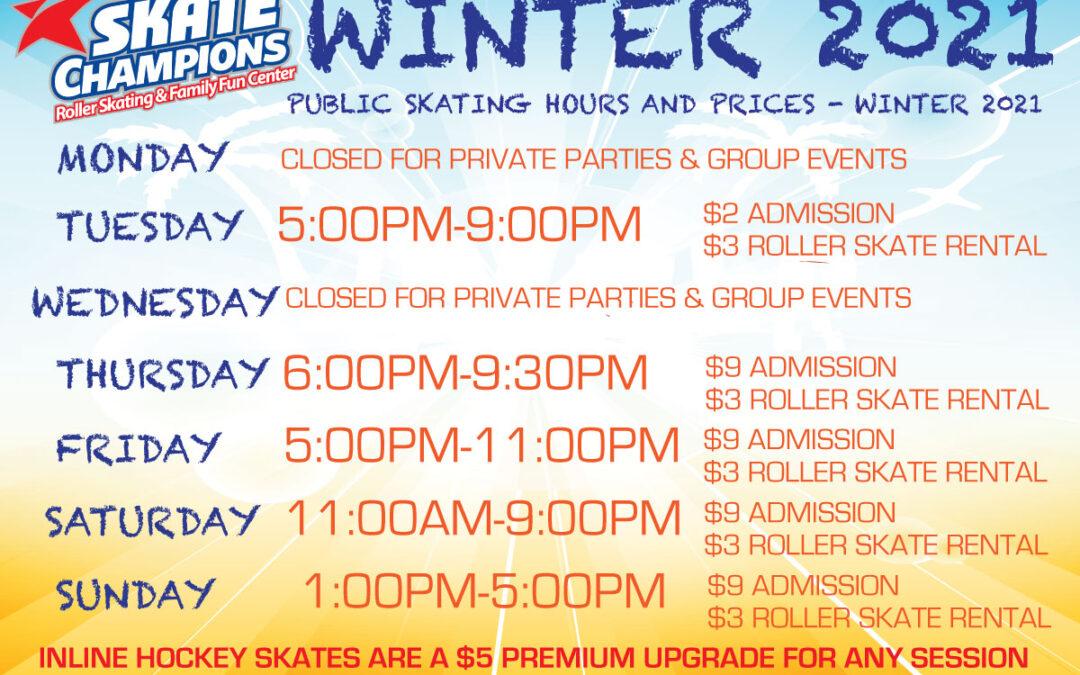 Winter 2021 Hours